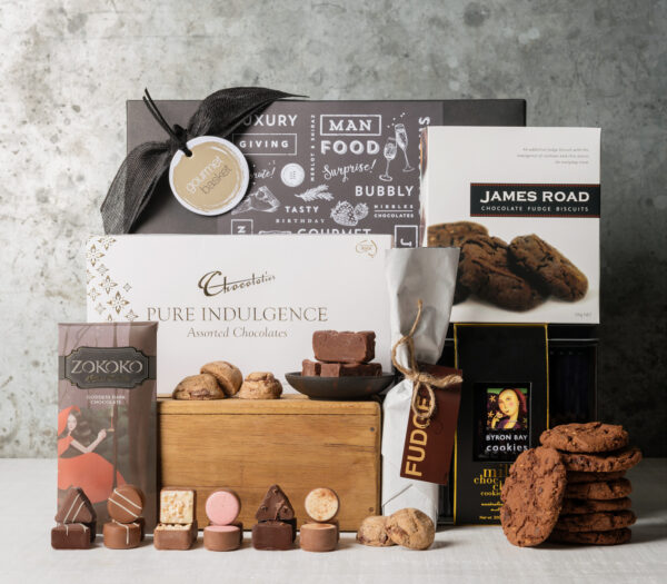 Cookie and chocolate delights gift basket from Gourmet Basket. Gift baskets for women