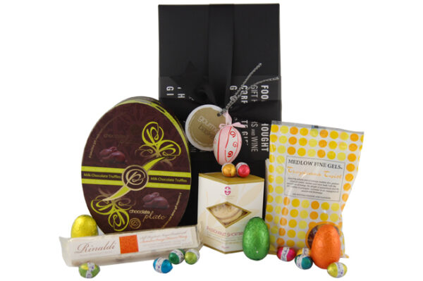 Easter Treats hamper is full of chocolate and other sweet treats