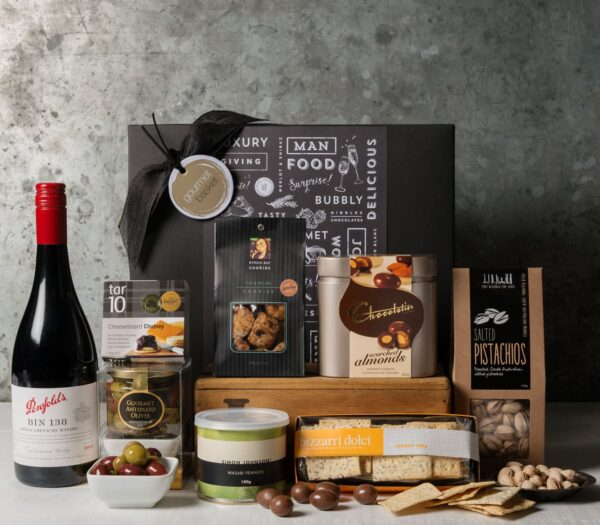 Premium Wine and food Gift Set. Gift Hampers from Gourmet Basket