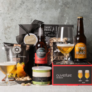 Beer and Glasses gift Hamper from Gourmet Basket