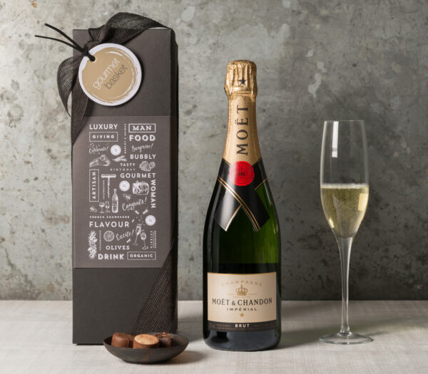Champagne and Chocolates gift hamper from Gourmet Basket