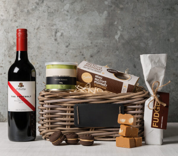 Red wine gift basket from Gourmet Basket, gifts for men and women