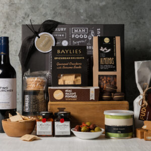 Red Wine and Nibbles Hamper from Gourmet Basket