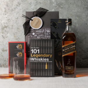 Johnny Walker Black Whiskey Connoisseur gift set for men from Gourmet Basket